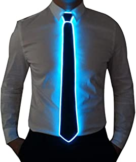 SATUMIKO Burning Man Light Up Fanny Ties Novelty Necktie For Men LED Light Up Ties Costume Accessory