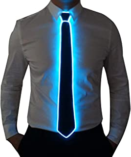 Burning Man Light Up Fanny Ties Novelty Necktie For Men LED Light Up Ties Costume Accessory