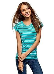 oodji Collection Mujer Camiseta Ancha de Viscosa