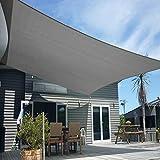 Artpuch Sun Shade Sails Canopy, 185GSM Shade Sail UV Block for Patio Garden Outdoor Facility and Activities (12'x16', Dark Grey)