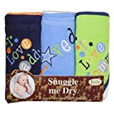 I Love Mommy and Daddy Boy, 3 pack hooded towel