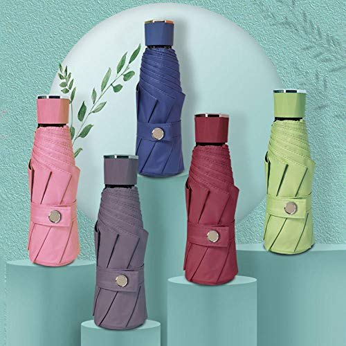 MMWW 2020 New 50{838e971c60c5b830ee4814e4e51267aeac201bdb5a1360eb341c122af1a68140} Umbrella Mini Sun Umbrella small Umbrella Folding Creative Pocket Ladies-Navy