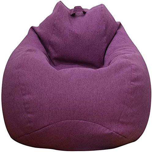Cratone Sofabezug Lazy Lounger Sitzsack Stuhl Sofabezug für Lazy Sofabezug ohne Füllstoff für Erwachsene und Kinder (lila 100 x 120 cm)