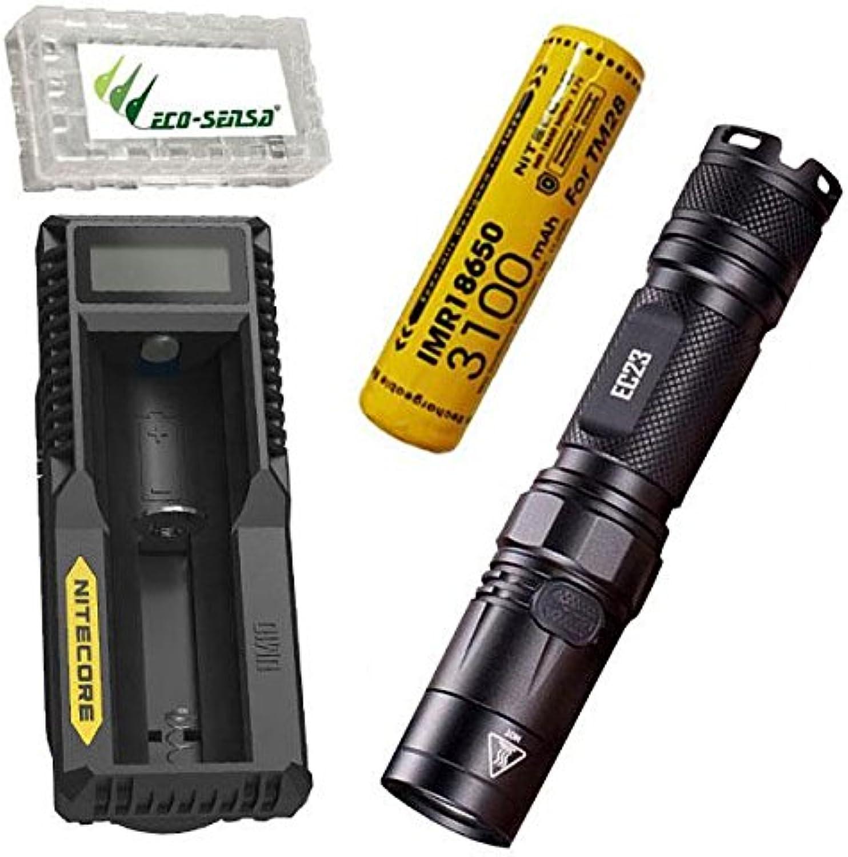 Combo  Nitecore EC23 CREE XHP35 HD LED Flashlight w w w UM10 Charger, 1x 3100mAh 10A 18650 B07BLK5JVD | Ausgezeichnet (in) Qualität  25686d