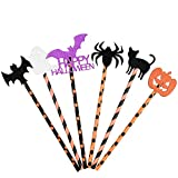 WEKON 36pcs Pajas de Halloween, Pajas Beber Halloween, Pajitas Halloween, Pajita Beber Halloween 6...