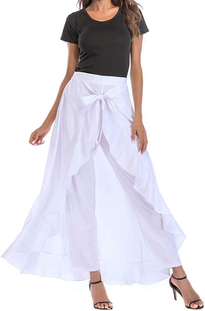 SkirtsforWomen's Plus Size Solid Flare Hem High Waist Mi