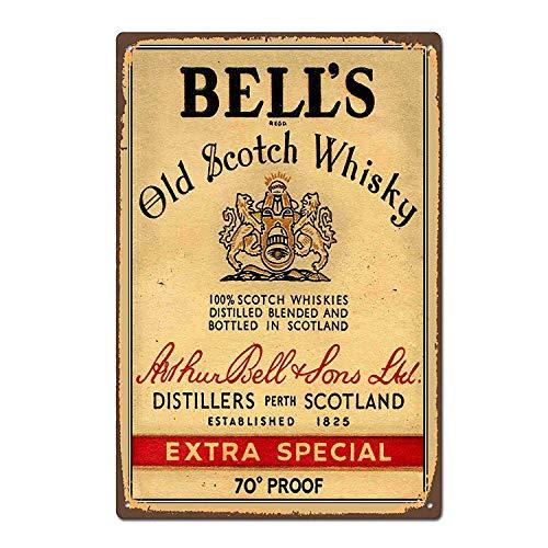 Henson Bell'S Old Scotch Whisky Nostalgische Kunst Mooie Traditionele Tin Teken Metaal Geschilderd Moderne Wanddecoratie Art Poster Game Kamer Huis Regels Straat Teken