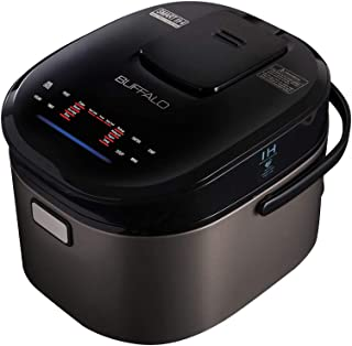 Buffalo Titanium Grey IH SMART COOKER, Rice Cooker and Warmer, 1.8L, 10 cups of rice, Non-Coating inner pot, Efficient, Multiple function, Induction Heating (10 cups)