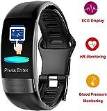 MEETGG Fitness Tracker, IP67 wasserdichte Herz Tracker APP Betrieb EKG + HRV Schlafüberwachung IP67 Kalorienzähler Funktion