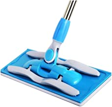 BTYAY Mop,Microfiber Mop with Extendable Adjustable Handle for Wet or Dry Floor Cleaning (Color : Blue)