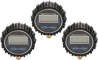 Homyl 3 peças medidor de pressão de pneu digital para carro caminhão