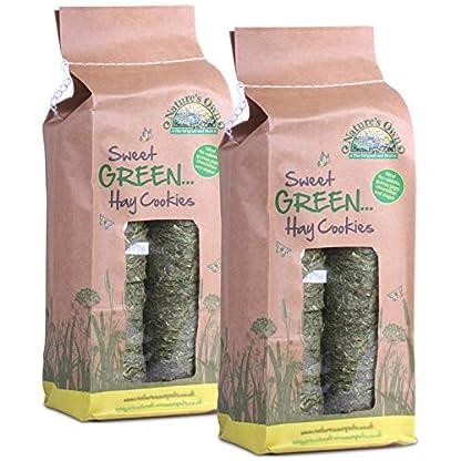 Tigerbox Nature's Own Sweet Green Hay Hard Cookies Pet Food Animal Feed 2 Packs 1