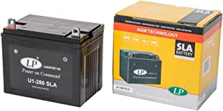 LANDPORT U1-280 - Batería SLA para cortacésped, tractor cortacésped o cortacésped (12 V, 24 Ah, incluye batería de 7,50 mAh)