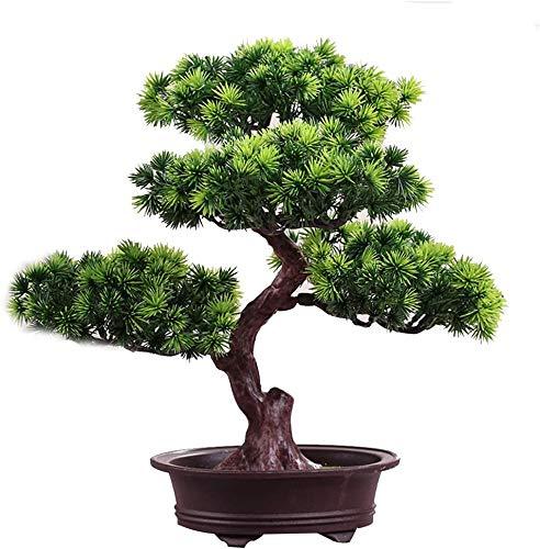 Simulación de plantas artificiales flor árbol verde árbol maceta (muy mucho color) salón mesa plástico flor decoración Lucky Feng Shui decoración (Multi-Color), D