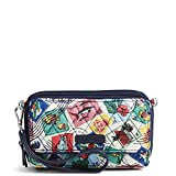 Vera Bradley Women's Signature Cotton RFID All in One Crossbody Wristlet , Cuban Stamps, One Size