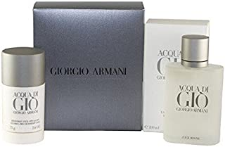 ACQUA DI GIO by Giorgio Armani Gift Set - 3.4 oz Eau De Toilette Spray + 2.6 oz Deodorant Stick / - (Men)