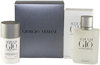 ACQUA DI GIO by Giorgio Armani Gift Set - 3.4 oz Eau De Toilette Spray + 2.6 oz Deodorant Stick  - (Men)