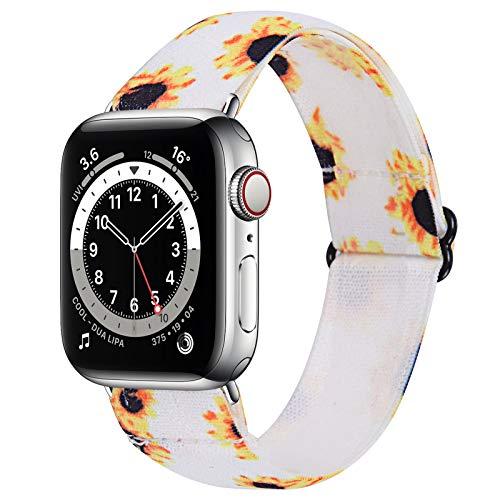 TriStraps Correa de reloj de nailon elástico de 42 mm/44 mm, compatible con Apple Watch iwatch Series SE/6/5/4/3/2/1, correas deportivas de repuesto suaves y transpirables para hombres y mujeres