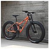 QMMD Adulto 26 Pulgadas Bicicleta Montaña, 21-24-27- Velocidades Bicicleta de Montaña, Doble Suspensión Bicicleta, Profesional Marco De Acero De Alto Carbono,A Spokes,24 Speed