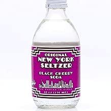 Original New York Seltzer Black Cherry, 10 Fluid Ounce (Pack of 12)