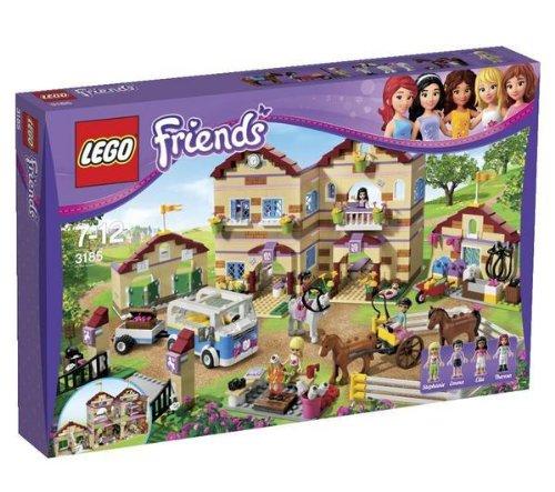 LEGO Lego Friends – El campo de equitación – 3185 + Friends – El potro de Olivia – 41003