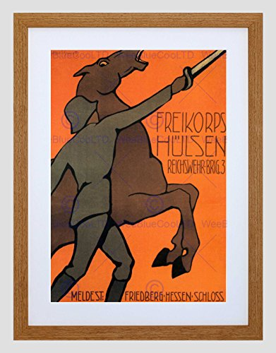WAR ENLIST HULSEN FREIKORPS HESSEN CASTLE GERMANY AD FRAMED ART PRINT B12X1865