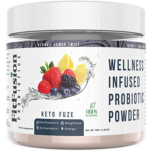 FITFUSION All-in-1 Keto Booster- Activate+Accelerate Healthy Weight Loss- Ketogenic and Metabolic Ignitor+ Spore Probioitcs, Prebioitic Inulin Fiber, Organic Energy, Vitamins and Antioxidants!