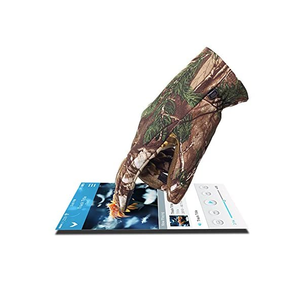 North Mountain Gear Mens Camouflage Hunting Gloves Light To Mid Weight Smart Phone Compatible Gloves With Sure Grip Palms Archery Hunting Accessories Hunting Outdoors Water Resistant