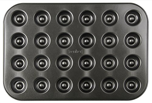 Zenker Backform für 24 Husarenkrapfen & Engelsaugen, beschichtetes Backblech (38 x 27 cm), für leckere Kekse mit Füllung, Keks-Backform, Menge: 1 Stück