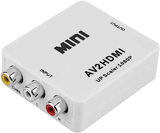 RCA Composite AV CVBS 3RCA to HDMI 1080p HD Video Cable Converter Adapter Upscaler