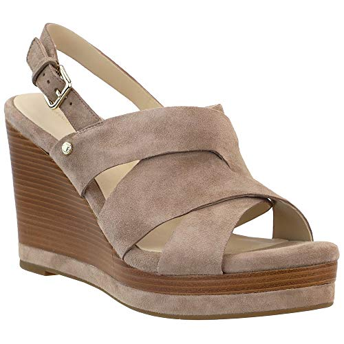 """Cole Haan Womens Laci Platform Wedge Sandals Wedges Casual High Heel 3"""" & Up - Brown - Size 11 B"""