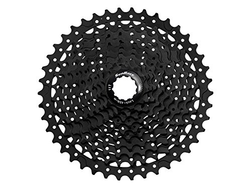 JGbike Sunrace 10 Speed Cassette CSMS3 11-46T Black for Road MTB cyclecross Mountain Gravel Bike, Fat Bike, e-Bike