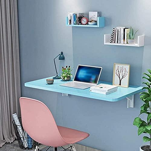 Mesa plegable de almacenamiento grande montada en la pared, mesa de ordenador, mesa de bar, escritorio de escritorio, mesa de ordenador