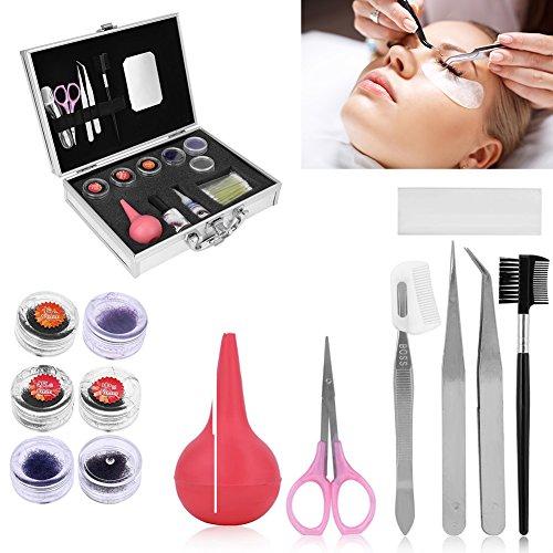 Maquillaje Extensión de pestañas falsas Kit, magnéticas reutilizables 3D de ojos maquillaje de pestañas profesional postizas extensión entrenamiento herramientaSet + Case