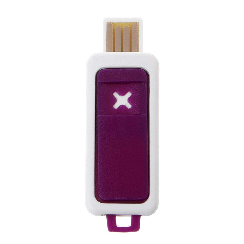 案件ブレンド乱れSimpleLife ポータブルミニエッセンシャルオイルディフューザーアロマUSBアロマテラピー加湿器デバイス(パープル2.3x6.7cm / 0.91x2.64in)