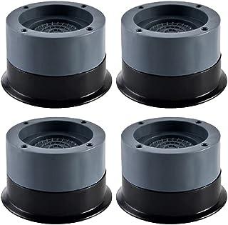Tampons à Pied Machine à Laver, 4 pièces amortisseur en caoutchouc universel anti-vibrations, antidérapant et réduction du...