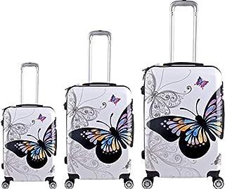 R and F Trolley Travel Bag - 3 Pcs - white - RF-006