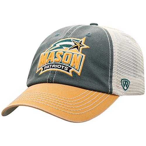 Top of the World George Mason Patriots Men's Relaxed Fit Adjustable Mesh Offroad Hat Team Color Icon, Adjustable