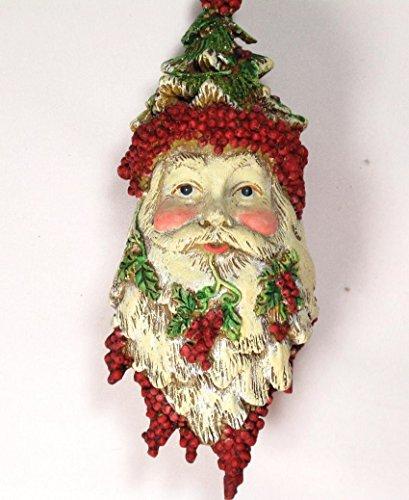 Tête de Père Noel des bois à suspendre