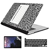 Dongke MacBook Pro 13 inch Case Model A2338 M1/A2251/A2289 2020 Released, Plastic Hard Shell Case Cover for MacBook Pro 13 inch with Retina Display & Touch Bar Fits Touch ID, Composition Book