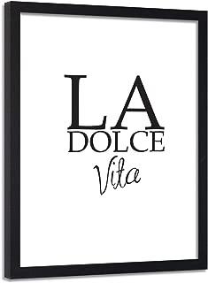 Cuadro con Marco XXL Frase motivadora Arte Moderno Texto Eslogan Blanco 80x120 cm