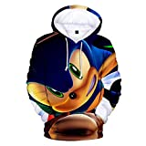 Synona Sonic The Hedgehog Sudaderas con Capucha 3D Impreso Casual Pullover Sw...