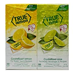 Delicious Lemon & Lime Beverage Mixes Made with Real Fruit, True to Nature ZERO Calories and Great Tasting Add to Water, Seltzer, & Drinks Only 3 Ingredients, Zero Sugar, Non-GMO