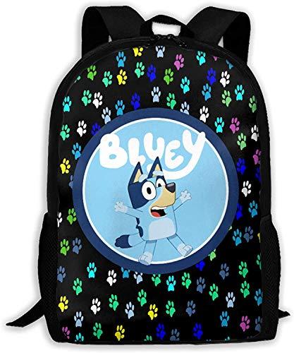 Bluey Rucksack,3d Drucken Hohe Kapazität Cartoons Schultasche?Konformität, Ergonomie Locker und bequem Rucksack, (A04,13 Zoll)