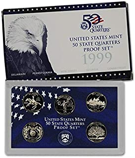 1999 S - 2009 S All 56 Proof State & Territory Quarters Complete Set With Boxes and COA Proof Proof