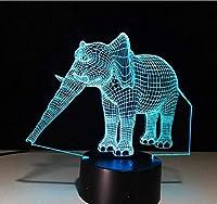 エレファント3Dノベルティ照明イリュージョンランプ20色変更タッチテーブルデスクLED3Dナイトライトキッズギフト家の装飾
