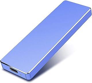 Disco duro externo, disco duro externo, portátil, delgado, USB 3.0, 1 TB, 2 TB, compatible con PC, portátil y Mac (2 TB, azul)