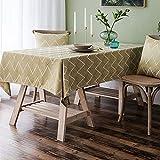 NHhuai Cubierta de Mesa de Simples Adecuado para la decoración de cocinas caseras, Varios tamaños Jacquard Impermeable Corrugado