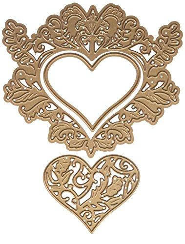 Spellbinders Shapeabilities botanical hart paar sterven, metaal, bruin