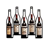 Estante de Vino de Estilo Industrial Vintage, Colgante de Pared de Hierro Forjado Mesa de Bar Restaurante Sala de Estar estantería de Vino DecoracióN de Pared Regalo